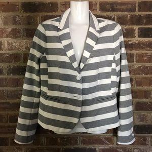 Gap Blazer grey/white stripe size 8